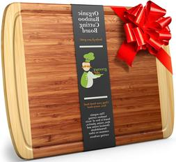 Greener Chef Extra Large Organic Bamboo Cutting Boards Kitch