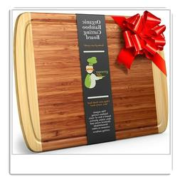Greener Chef Extra Large Bamboo Cutting Board- Lifetime Repl