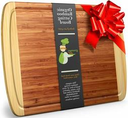 Greener Chef Extra Large Bamboo Cutting Board - Lifetime Rep