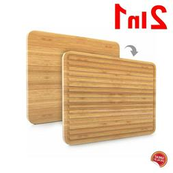 Extra Large Cutting Board Bamboo Butcher Long Kitchen Big Wo
