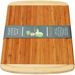 Extra Large Organic Bamboo Cutting Board for Kitchen - LIFET