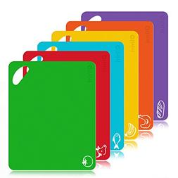 Extra Thick Flexible Plastic Kitchen Cutting Board Mats Set,