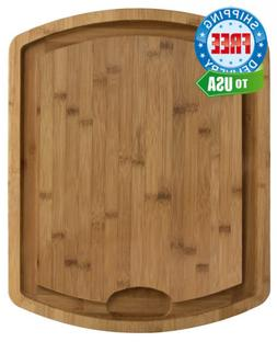 Totally Bamboo Farmhouse Carving and Cutting Board, 19-1/2""