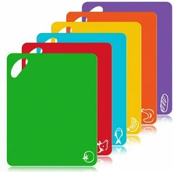 Flexible Cutting Board, Food Cutting Mat Color Coded with Fo