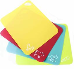 NEOFLAM Flexible Cutting Board with Icons, BPA Free, Non Sli