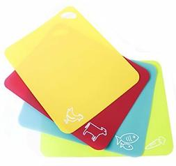 Neoflam Flexible Cutting Mats with Non-Slip Grip , Multicolo