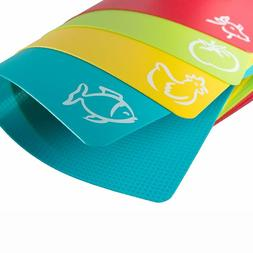 Flexible Plastic Cutting Chopping Board Mats Kitchen BPA Fre