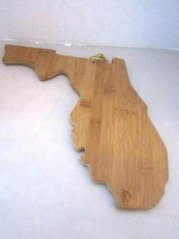Totally Bamboo FLORIDA Cutting & Serving Board, Solid Bamboo