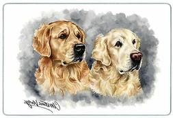 Canine Designs Golden Retriever Duo Tempered Glass Cutting B