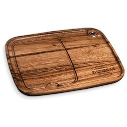 Grill House Personalized Wood Steak Plate   BBQ Fans