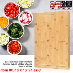 Kitchen Antibacterial Thick Bamboo Cutting Board Serving Cho