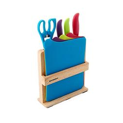 Farberware 9-Piece Knife and Cutting Board Set with Storage