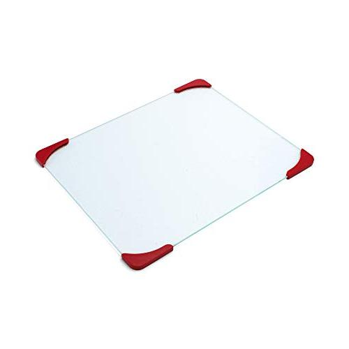Farberware 12-by-15-Inch Glass Utility Cutting Board with No