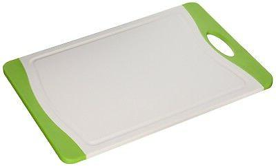 "Neoflam 14"" Plastic Cutting Board in White and Green - BPA F"