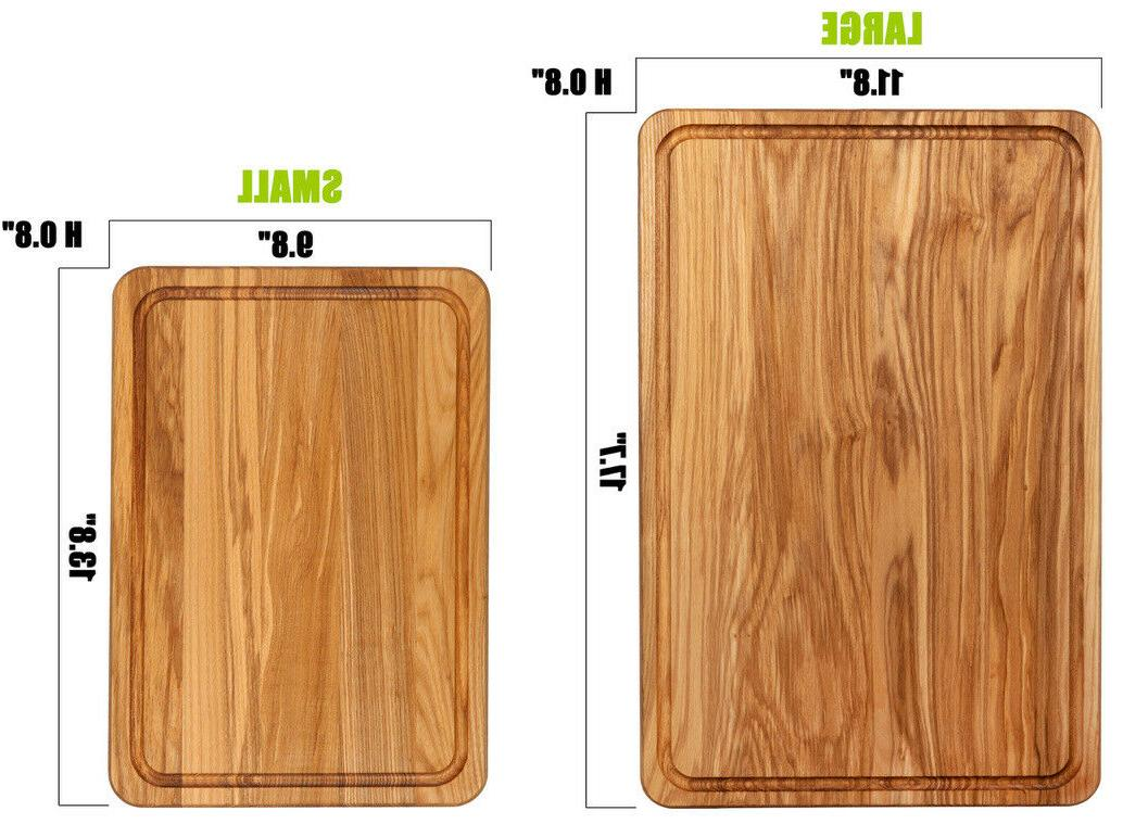"17.7"" Wood Board hardwood. High quality. for serving."