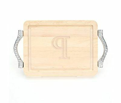BigWood Boards 200-RP-P Cutting Board with Handles, Monogram