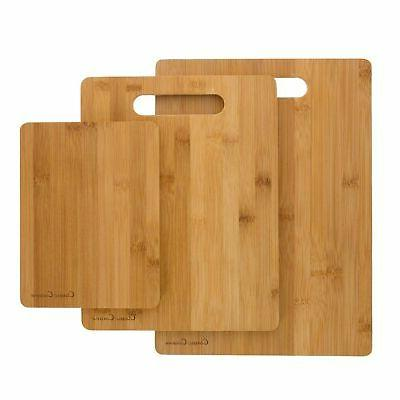 3 bamboo cutting boards antibacterial chopping carving