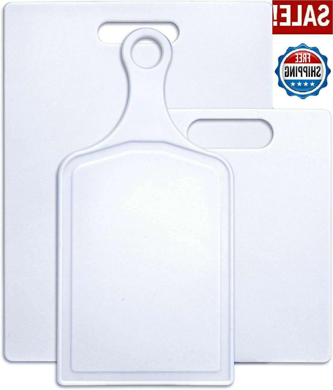 3 Pcs Kitchen Cutting Board Plastic Cooking Set Small Large