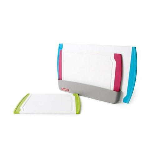 Neoflam 3 Piece Plastic Cutting Board Set plus Organizer in