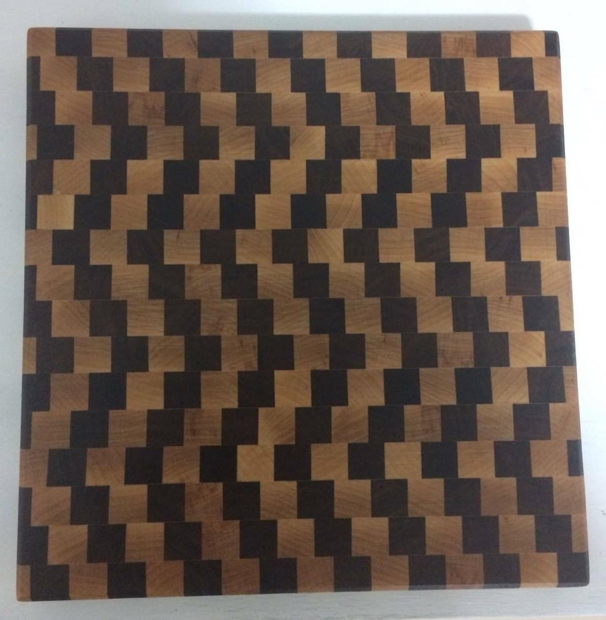 3D End Grain Cutting Board, and Maple