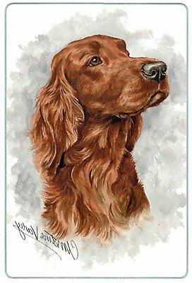 Canine Designs Irish Setter Tempered Glass Cutting Board mal
