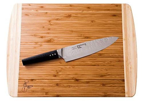 Extra Large Organic Cutting Board for Kitchen - NEW CRACK-FREE Boards Juice Groove for Carving Butcher for & Serving Cheese