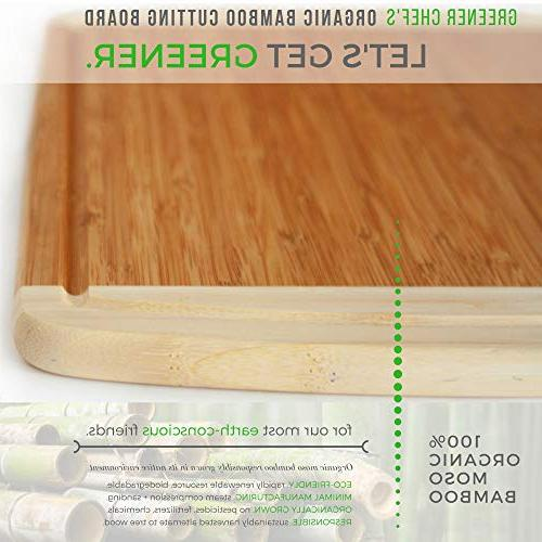 Extra Bamboo Cutting for Kitchen - NEW - Boards Juice for Carving Meat, Butcher & Serving for Cheese