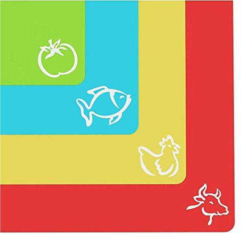 Extra Thick Flexible Plastic Cutting Board Mats With Food Ic