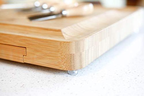 Bamboo and Knife kitchbits - serving cutlery for steel knives cheeses and