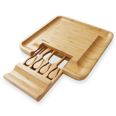 Bamboo Knife Gift Charcuterie Serving