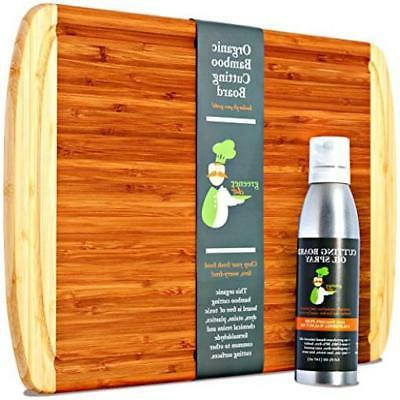 bamboo cutting board oil set