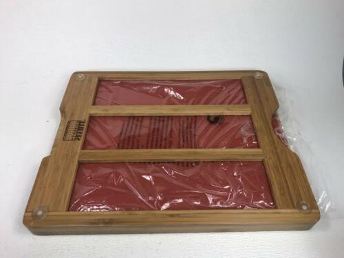 Seville Classics Bamboo Board with 7 Cutting Mats