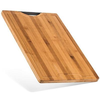 Best Designed Organic Bamboo Cutting Board - Thick Strong Ba