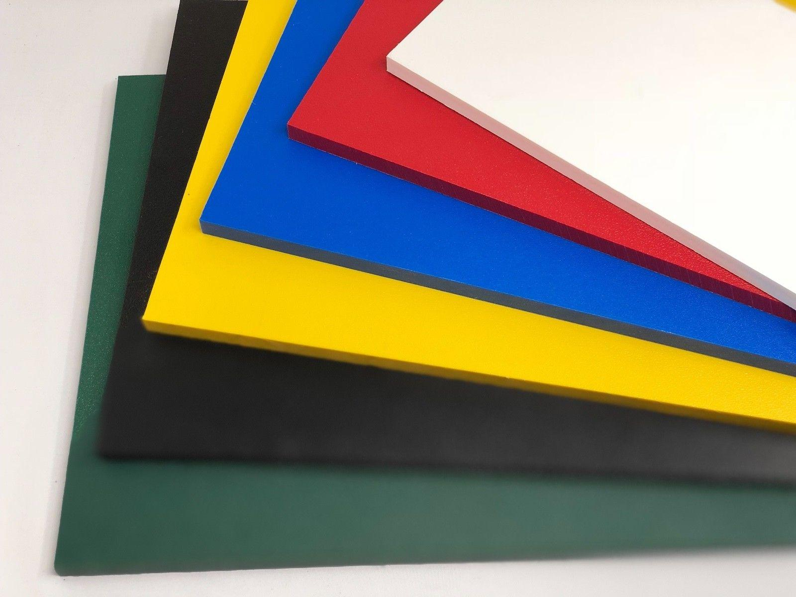 """Color Plastic Board 1/2"""" .500"""" Thick You Size"""