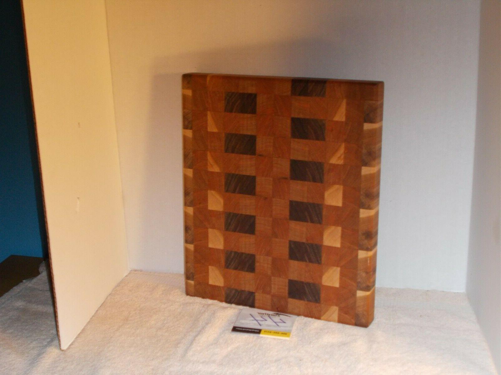 Handmade end grain wood cutting board