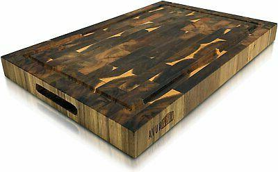 """Extra Large Wood Cutting Board 18"""" x 12"""" Thick Butcher Block"""