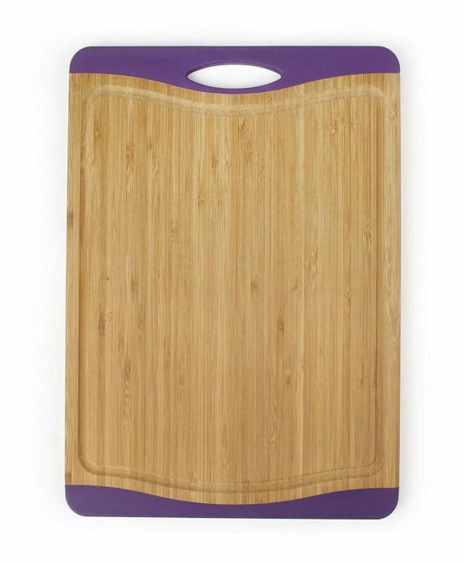 "Neoflam Flutto 15"" Bamboo Cutting Board with Non-Slip Edges"
