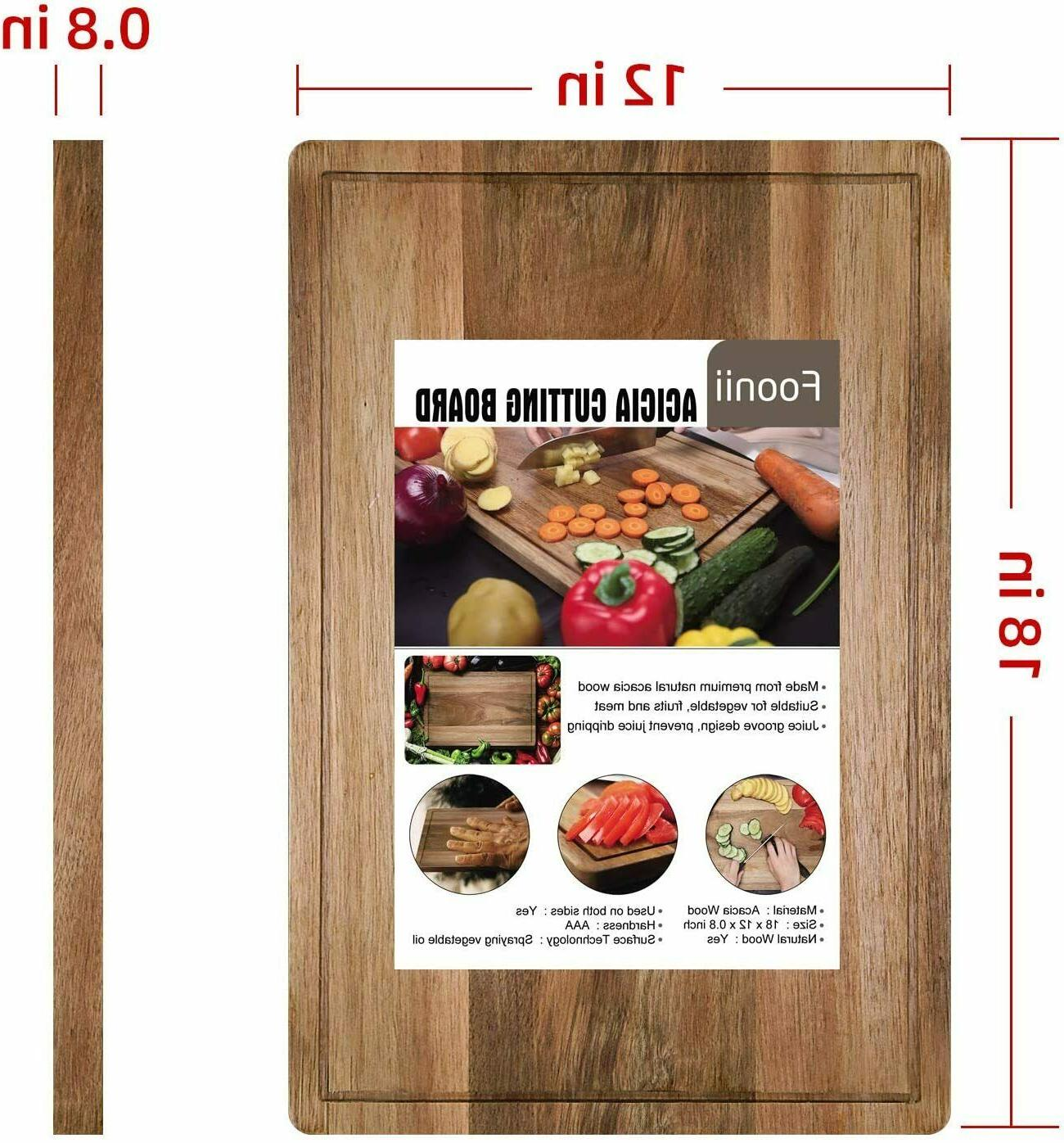 Foonii Thick Cutting Board, 18 x 12inch Kitchen Chopping