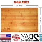 Go Active Lifestyle Extra Large 18x12 Bamboo Cutting Board W