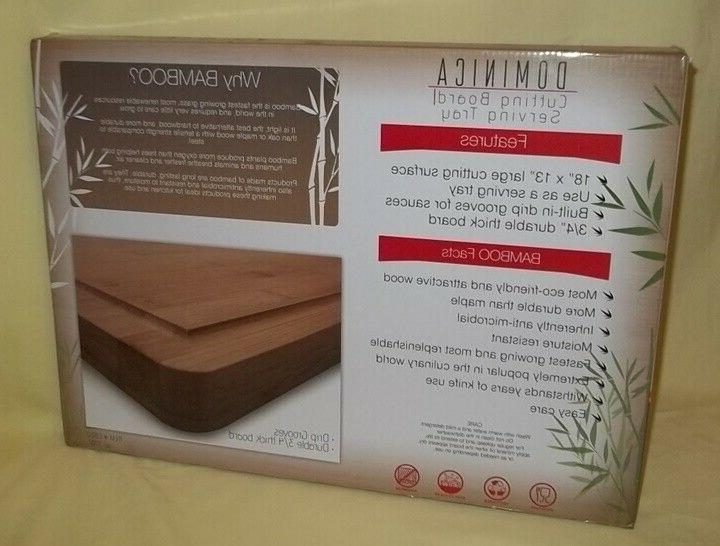 Grande Dominica Bamboo 18x13 inch / Serving Tray New!