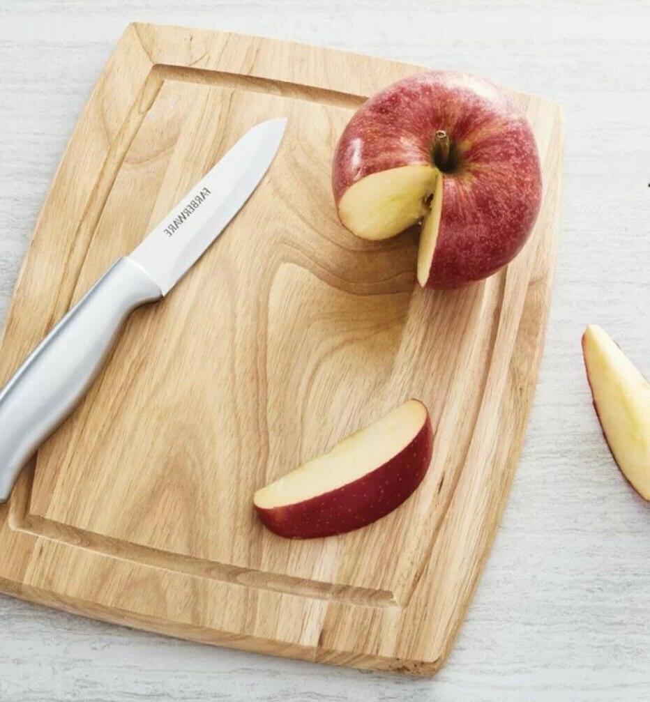 Farberware Hardwood Reversible Curved Grooved Cutting Board