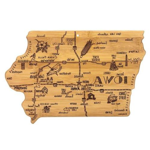 iowa state destination serving and cutting board