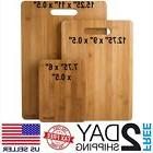 Kitchen Cutting Board Set Wood Bamboo Small Large Big Servin