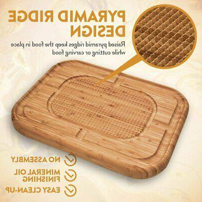 Bamboo Cutting for Carving Turkey Butcher Block Chopping Board...