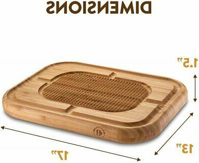 Bamboo for Carving Turkey Butcher Block Chopping Board...