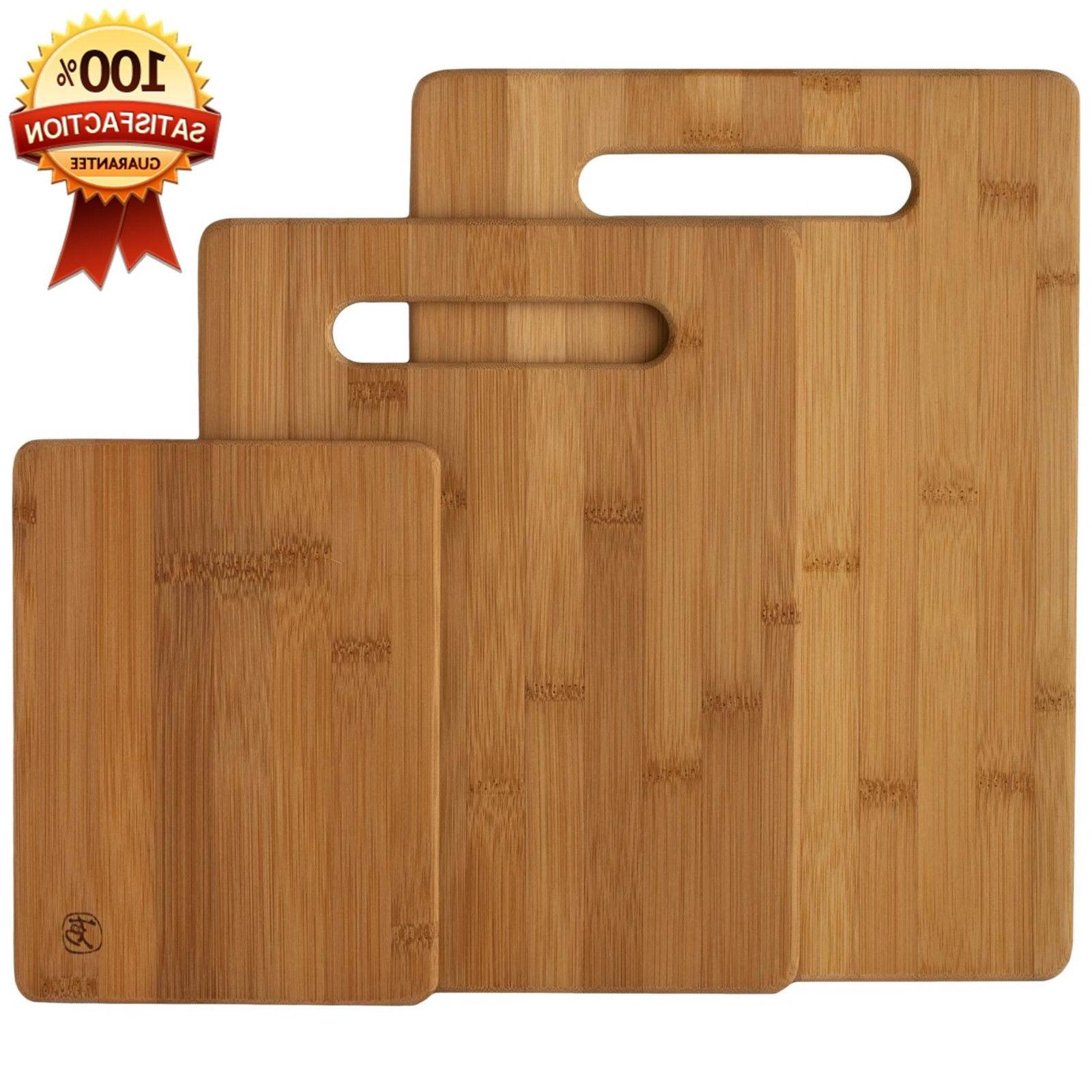 New Bamboo 3 Set Piece Cutting Board Totally Kitchen Wood Ch