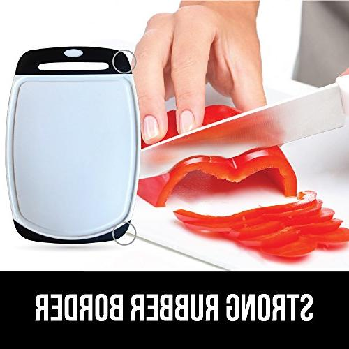 Cutting Board for Kitchen, BPA Free, Grip Handle, Dishwasher Non-Porous, Boards are Extra Large and