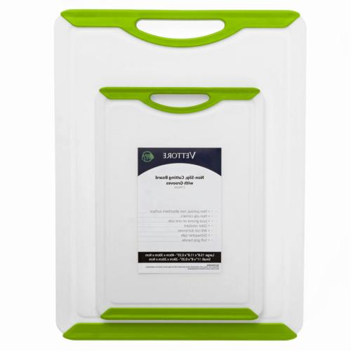 Vettore Non Slip Poly Cutting Board Set With Juice Groove Di