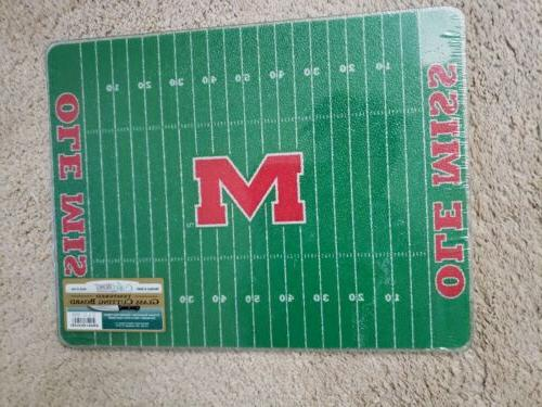 ole miss rebels tempered glass cutting board