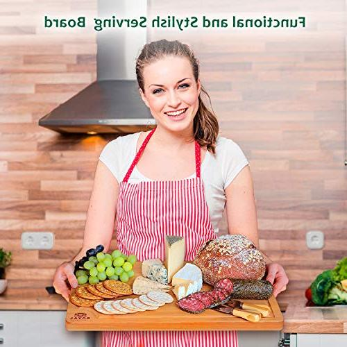 EXTRA LARGE Cutting Board Groove Chopping Board Meat Cheese Vegetables Anti Microbial Heavy Duty Serving Tray